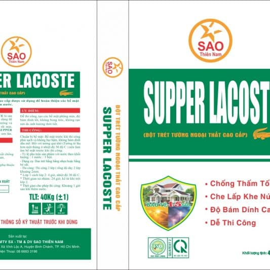 Bột trét tường Supper Lacoste Ngoại thất